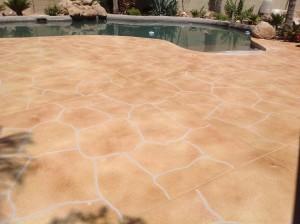 Trowel Flagstone Pool Deck