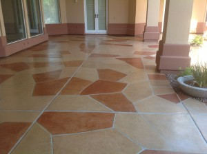 Multi-color Trowel Flagstone