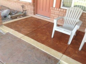 Stamped Overlay Porch