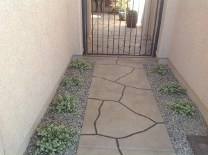Trowel Flagstone Entry