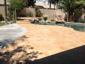 Trowel Flagstone Pool Deck
