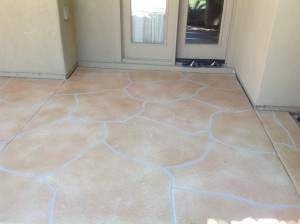 Trowel Flagstone Patio