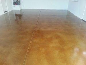 Stained Concrete Garage